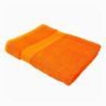 2 X STRIPED BRIGHT 100% COMBED COTTON SOFT ABSORBANT ORANGE BATH SHEET T... - $37.99