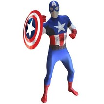 Adult Captain America Marvel Comics Morphsuit Zapper Comic-Con Cosplay C... - $79.19+
