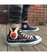 Converse All Star Twilight Feather Design Hand Painted Shoes Women Men's... - $145.00