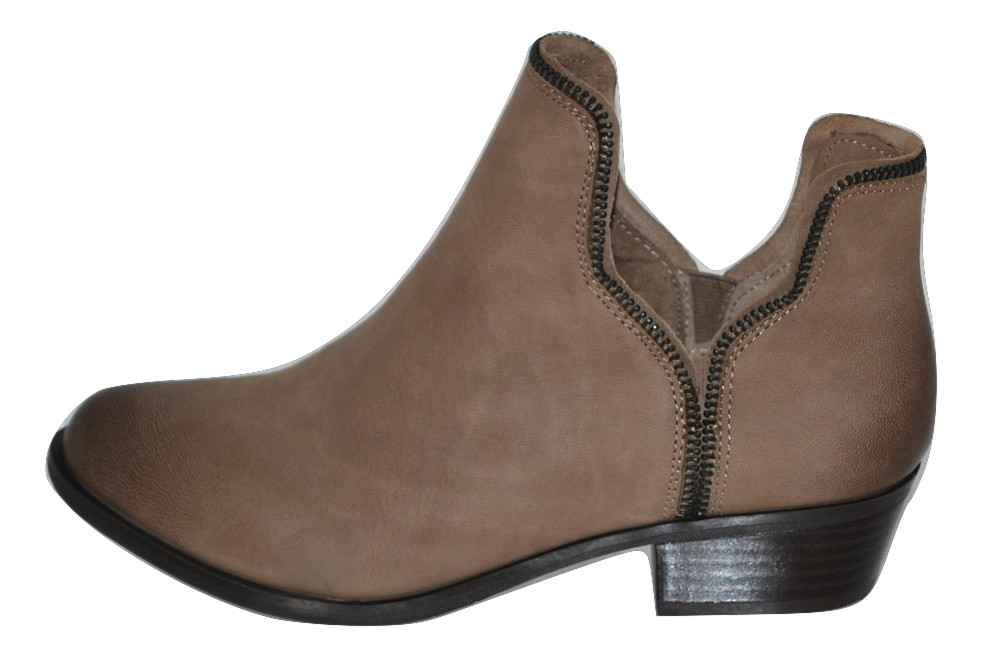 Women's Leather Ankle Boots by BCB Generation Size 7.5M Taupe