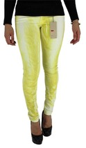 LEVI'S 535 JUNIOR'S SKINNY JEAN LEGGINGS YELLOW TIE DYE 119970069 SIZE 32