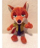"Disney Zootopia Nick Wilde Fox 9"" Tomy Plush Stuffed Animal Toy Excellent - $9.97"