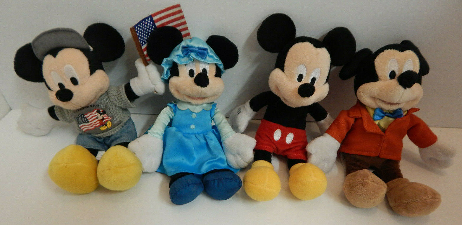 Primary image for Disney Plush Doll LOT OF 4 Mickey Mouse & Minnie