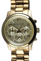 Michael Kors Gold Tone Runway Stainless MK-5055 Chromograph Watch 250602 $250 - $98.00