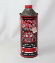 Vintage Marvel Mystery Oil Tin Can - 16 fl oz - FULL CAN - Advertising -... - $23.55