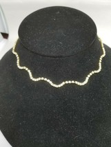 Rhinestone Curvey Gold Tone Necklace After Thoughts - $15.29