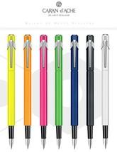 Caran d'Ache 849 Aluminum Metal Fountain Pens EF  I  F Pen 7Color Free S... - $58.25+