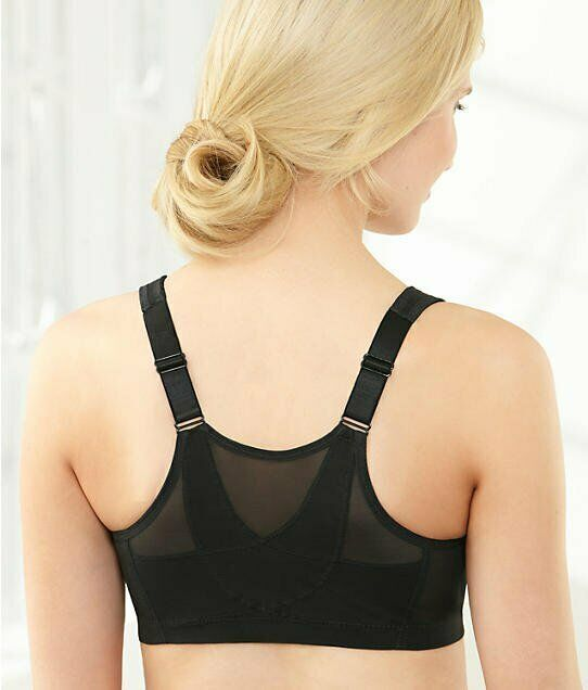 glamorise black magic lift posture back support bra size