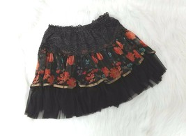 Ace Fashion Girls Sz XL Skirt Ruffled Layered Tulle Lace Brown Multicolo... - $6.00