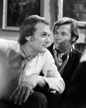 Tony Curtis and Roger Moore in The Persuaders! candid close up on set 16x20 Canv - $69.99