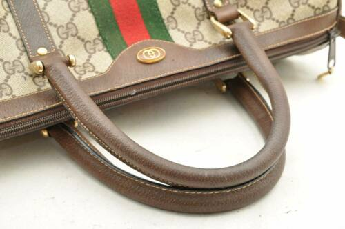 GUCCI Sherry Line GG Canvas Hand Bag Brown Auth 8724