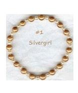 Gold Magnetic Glass/Pearl Beaded Bracelet - $15.99
