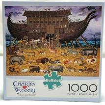 Charles Wysocki 1000Pc Jigsaw Puzzle NOAH AND FRIENDS Ark w Poster Buffalo - $24.13