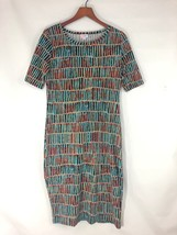 EUC LuLaRoe Julia Dress Women's Size Medium M Colorful Geometric - $14.84