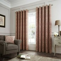 ORNATE RED BEIGE TAPESTRY CHENILLE ANNEAU TOP CURTAINS DRAPES 6 SIZES - $67.88+