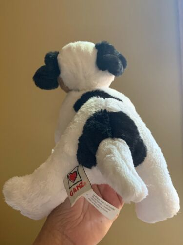 """Webkinz Jack Russell Terrier HM168 Soft Plush Animal Ganz W Code Tag 11"""" Used"""