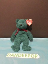TY Retired Beanie Baby 2001 Holiday Teddy Green Bear Rare Errors  w/ tags Ty - $13.85