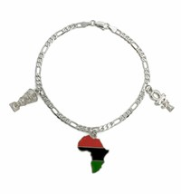 [Icemond] Egyptian & African Charm Figaro Anklet - $16.82