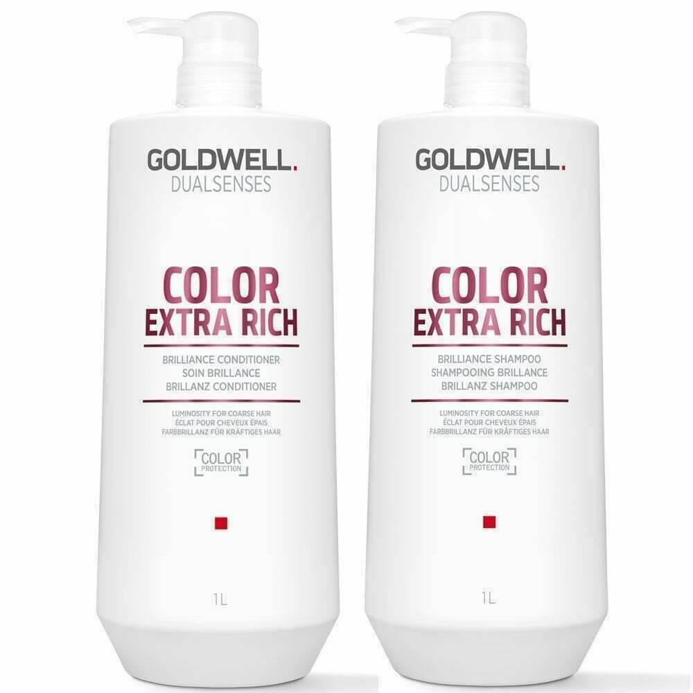 Goldwell Color Extra Rich Brilliance Shampoo & Conditioner Liter DUO -  - $54.99