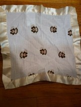 Aden + Anais Issie Monkey Muslin Silky Trim Small Baby Security Blanket Lovey - $42.03