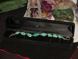 QVC Carolyn Pollack Relios Turquoise & Sterling Bead Chunk Bracelet Togg... - $138.59