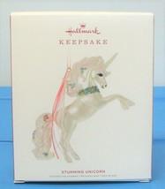 2019 Hallmark Keepsake Stunning Unicorn Christmas Ornament White Pink - $25.90