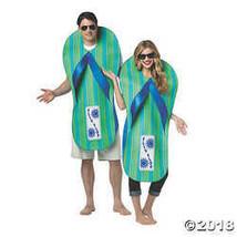 Rasta Imposta UHC Pair of Flip Flops Outfit Funny Theme Fancy Dress Halloween Co - $78.73