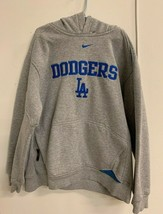 Nike LA Dodgers Grey and Blue Baseball Hoodie Sweatshirt Boy's M Los Ang... - $18.50