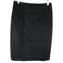 H&M Women's Skirt Pencil Knee Length Lined Size US 8  Black - $8.81