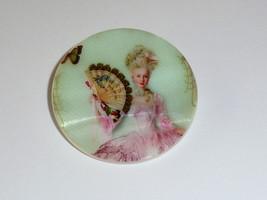 Marie Antoinette w/ Fan Button MOP -  Mother of Pearl Shank Button 1+3/8... - $11.87