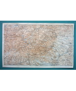 "1905 MAP Baedeker - HIGH TATRAS Mountains Slovakia Poland 8 x 12.5"" (20 ... - $9.79"