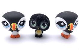 Littlest Pet Shop Lot 2 Puffins And 1 Fuzzy Penguin Lps - $11.88