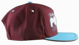 Flat Fitty On And Popin Burgundy Carolina Blue SnapBack Baseball Cap Hat NWT image 4