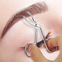Eyebrow Tweezers, Scissors Shaped Eyebrow Straight Tip Tweezers Clip, Flat Tip T image 5