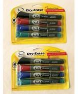 Dry Erase Markers 4 Assorted Colors Quartet EnduraGlide Chisel Tip Lot o... - $9.99