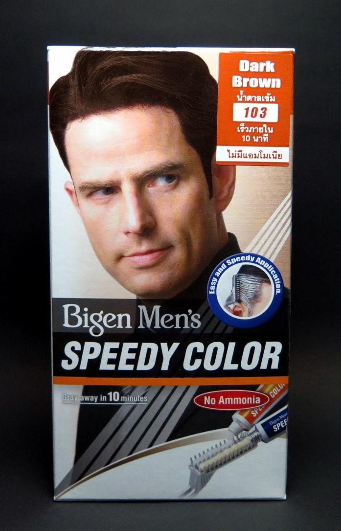 5X Bigen Men Speedy Color Hair Dye Dark Brown 103 Cream Free Expedited Shipping