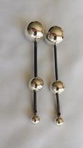 Handmade Silver and Blackened Steel Drop Earrings - $185.00