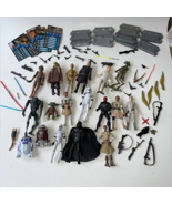 Vintage Lot of Star Wars Figures Weapons Cards Stands 2000's Clone Wars  - $229.99