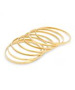 PIATELLA Ladies 18K Gold Plated Stainless Steel set of 7 Bangles - $15.99