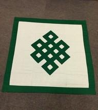 Tibetan pure cotton Green endless knot shrine table cover / altar cloth ... - $28.00