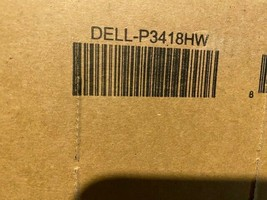 "Dell P3418HW 34"" 21:9 IPS Curved Monitor Brand New In Box - $891.00"