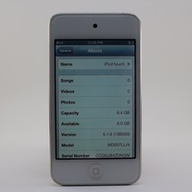 Apple iPod Touch 8GB 4th Generation MP3 Player Touchscreen MD057LLA White - $54.99