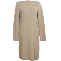 RALPH LAUREN Taupe Heather Wool Knit Boat Neck Sweater Dress L - $89.99