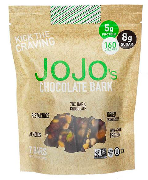 Keto candy: JOJO's 70% Dark Chocolate Bark 7 bars (8 net carbs)