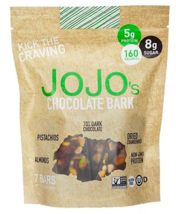 Keto candy: JOJO's 70% Dark Chocolate Bark 7 bars (8 net carbs) - $20.29