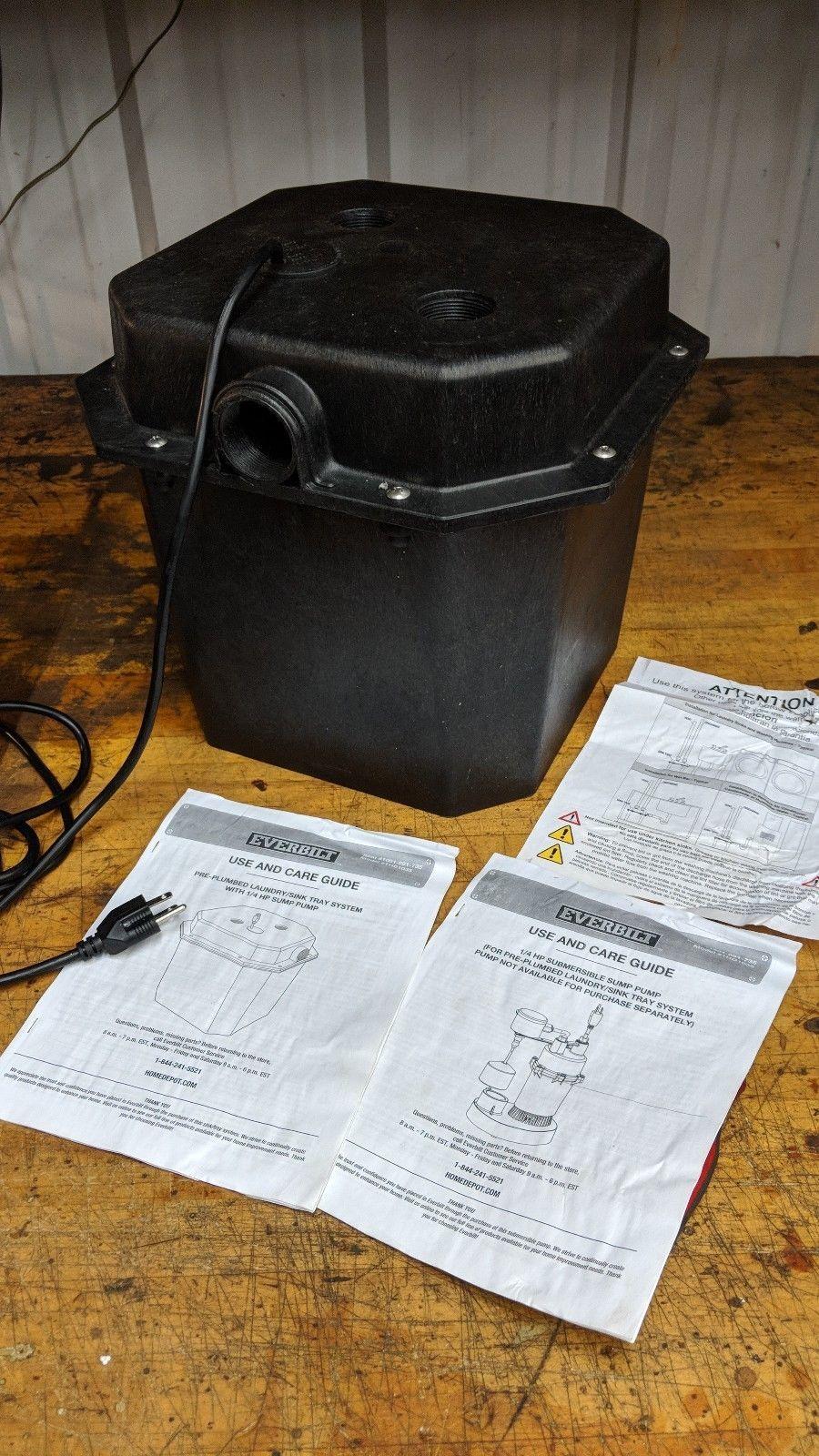 Everbilt 6 Gallon 1/4 HP Under Sink Basin System lift pump