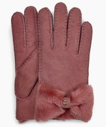 UGG Gloves Bow Shearling Bow Shorty Lantana Pink Medium NEW $155 - $123.75