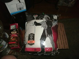 4#   NIP Evil Jester Scary Skull Adult Med Halloween Costume (Black/White) - $14.84