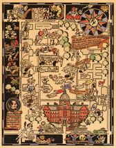 Johns Hopkins Hospital Map Pictorial Cartoon Style Wall Decor Art Poster... - $12.38