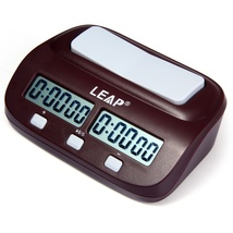 LEAP PQ9907S Digital Chess Clock I-go Count Up Down Timer-Wine Red image 2